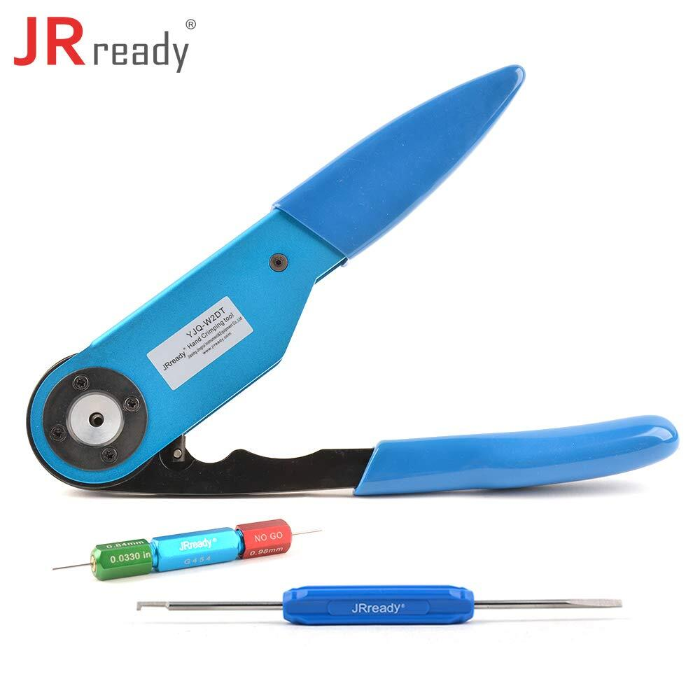 Crimp MIL-PRF-38999 SERIES 1,3,4 MIL-DTL-24308 Connector Contacts JRREADY ST1123 Crimp Tool Kits MIL-DTL-83733 YJQ-W7A Crimper 16-28AWG +86-3+86-4+86-6+86-7 Locators