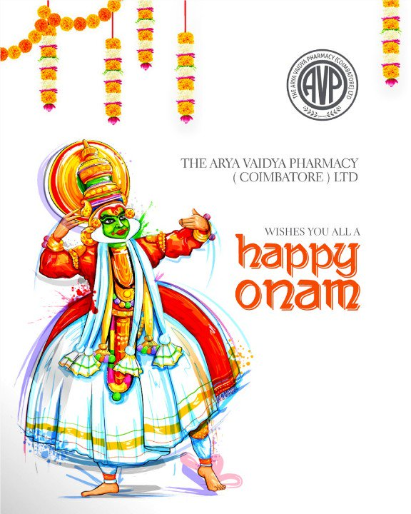 Happy Onam from all of us at Arya Vaidya Pharmacy (Coimbatore) Limited. #happyonam
