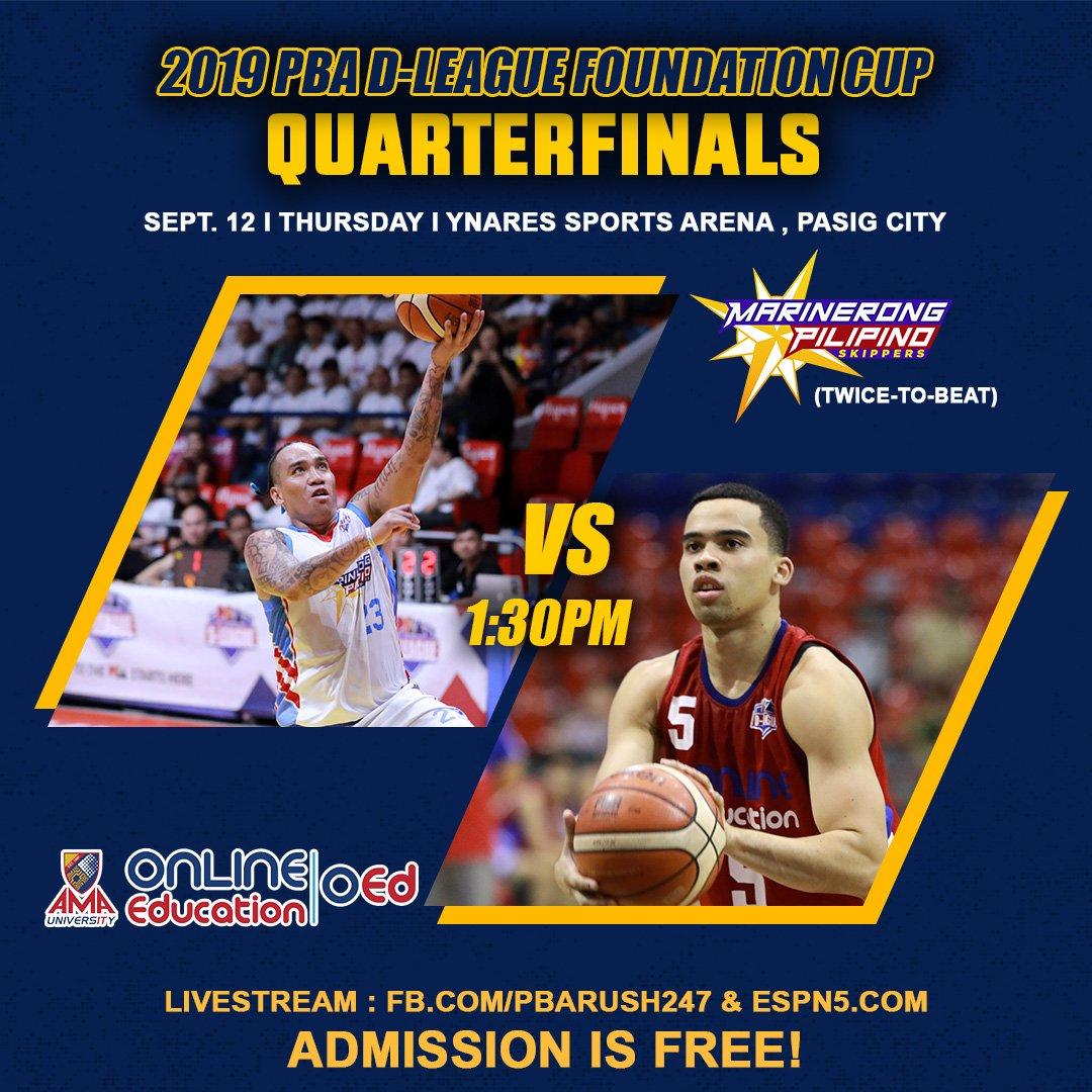 PBA: Panoorin ang @PBA_DLeague Playoffs mamaya sa Ynares Sports Arena, Pasig!  --- LIVESTREA...