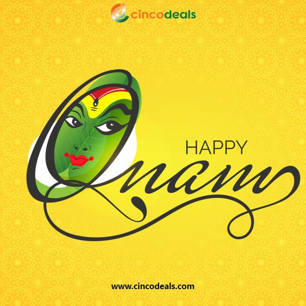 Onam is a celebration of the home-coming of Emperor Mahabali. Let's Welcome Him with full Joy and enthusiasm. Happy Onam From Cinco Deals #happyonum #HappyOnum #kerala #1to3foods #noodles #happiestdayinlife #traditionalday #supportkerala #onum #happynewyear #newyear #festivaltime