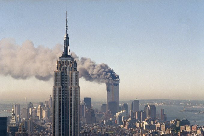 On this day 18 years ago, the world watched as the plight of evil executed the unthinkable. To all the men, women and emergency services who said their goodbyes without the knowledge it would be their last, may you rest in peace and never be forgotten.  #WorldTradeCenter <br>http://pic.twitter.com/It7z7R3mBB