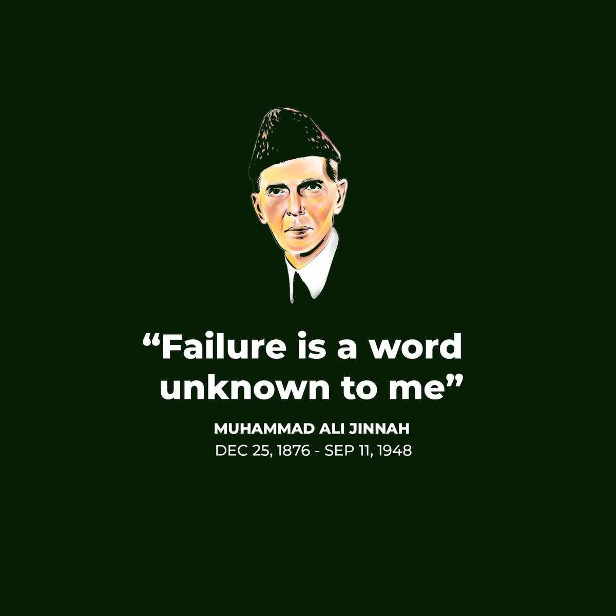 Today we observe the 71st death anniversary of Jinnah. Pakistanis, specially the youth should learn a lot from the wisdom of our great leader.#QuaideAzam #WednesdayThoughts