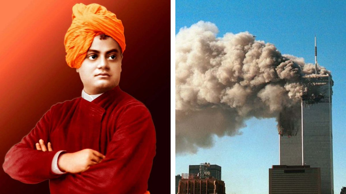 On the same day #sept11 two contrasting things happened . 1.Vivekananda preached about Love n harmony (1893) 2.Terrorist attack took place in US  (2001) Let us spread love n not hate . <br>http://pic.twitter.com/3YcHOoh7Zh
