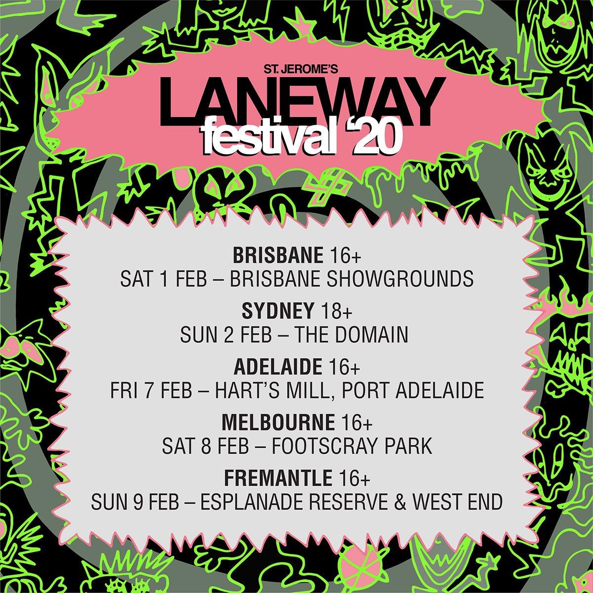 Laneway Festival 2020 dates