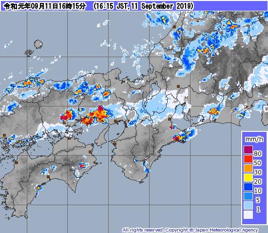 加古川 雨雲