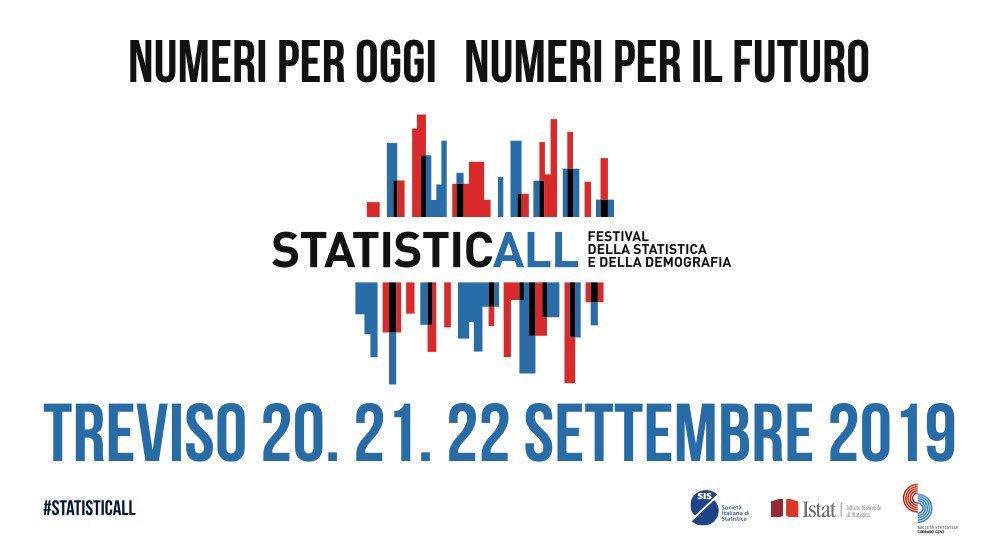 Vi aspettiamo a Treviso dal #20settembre al #22settembre a #StatisticAll.  Tutti gli eventi del Festival sono ad ingresso libero.  Per alcuni eventi potrà essere richiesta una pre-iscrizione https://t.co/px4HYSxKg7