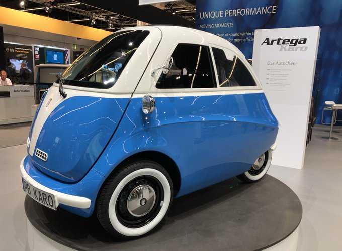 Neu auf der IAA19: Kleinstfahrzeuge als Elektroauto mit St