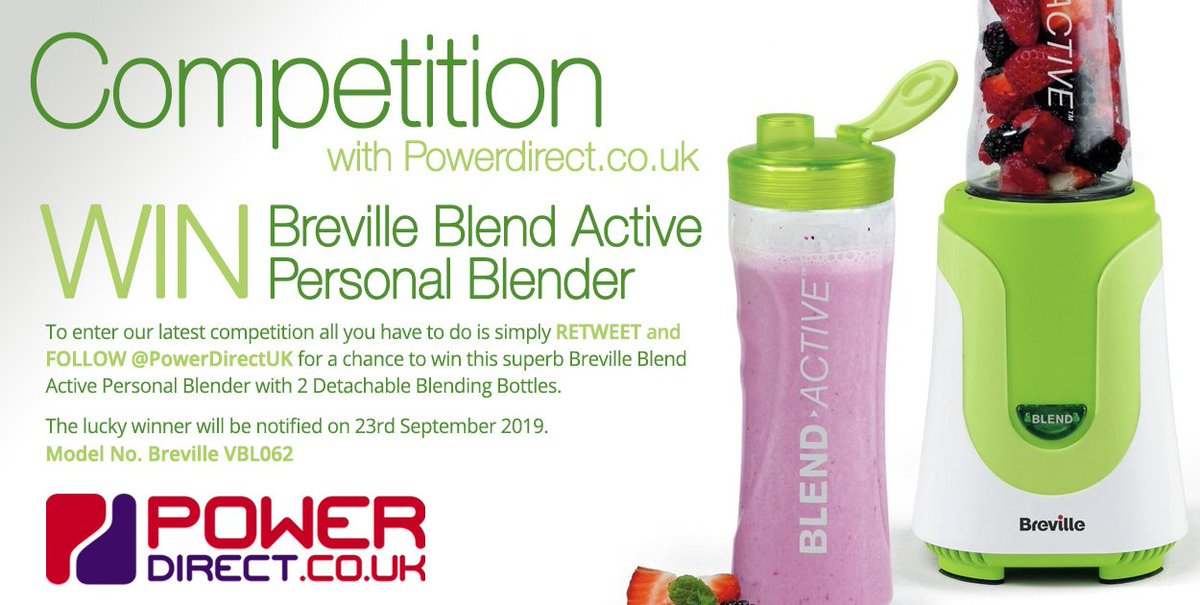#Free to Enter @PowerDirectUK #Competition #Giveaway... Simply #RT and #Follow for a chance to #Win a Breville Blend Active Personal Blender… #WinItWednesday #WednesdayMotivation <br>http://pic.twitter.com/3Ite2f9RU1