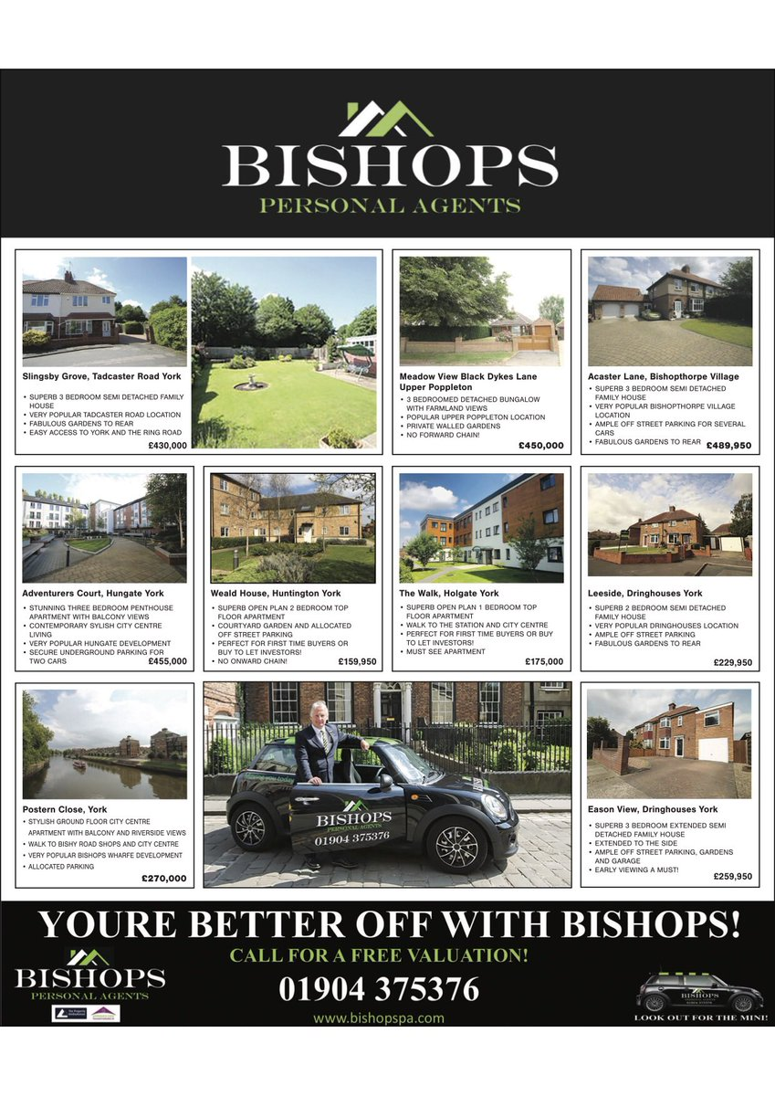 Look out for Bishops Personal Agents in the York Property Press this week! Call 01904 375376 to view anything you wish to! #property #york #propertypress pic.twitter.com/kiD40zPAqA