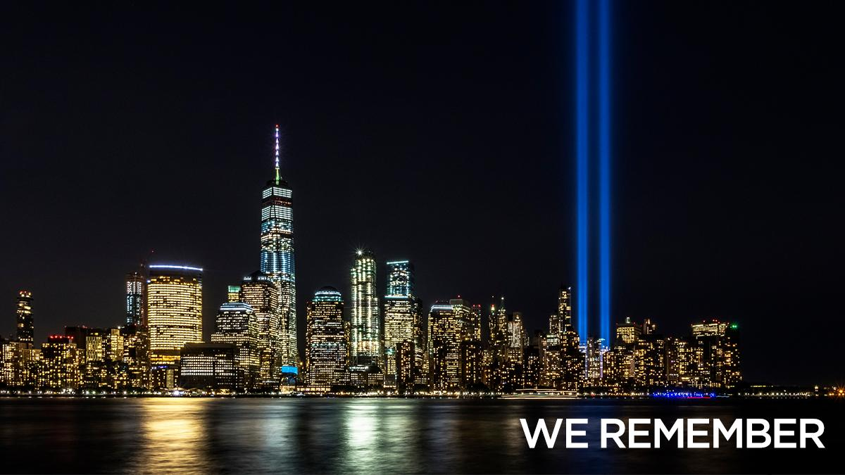 Today we remember and honor the lives lost on September 11th, 2001.