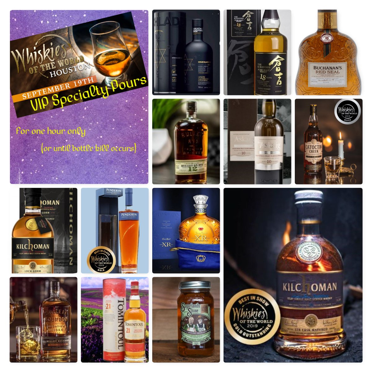 Haven't got your tickets for #wowhou yet? Here's a sneek peak at some of what our friends are sharing Sept.19th.  #whiskiesoftheworld #wowaus # #whisky #scotch #scotchwhisky #whiskey #bourbon #singlemalt #singlegrain #blendedmalt #blendedscotch #blendedgrain #whiskyfriends<br>http://pic.twitter.com/mHBK2J2Psw