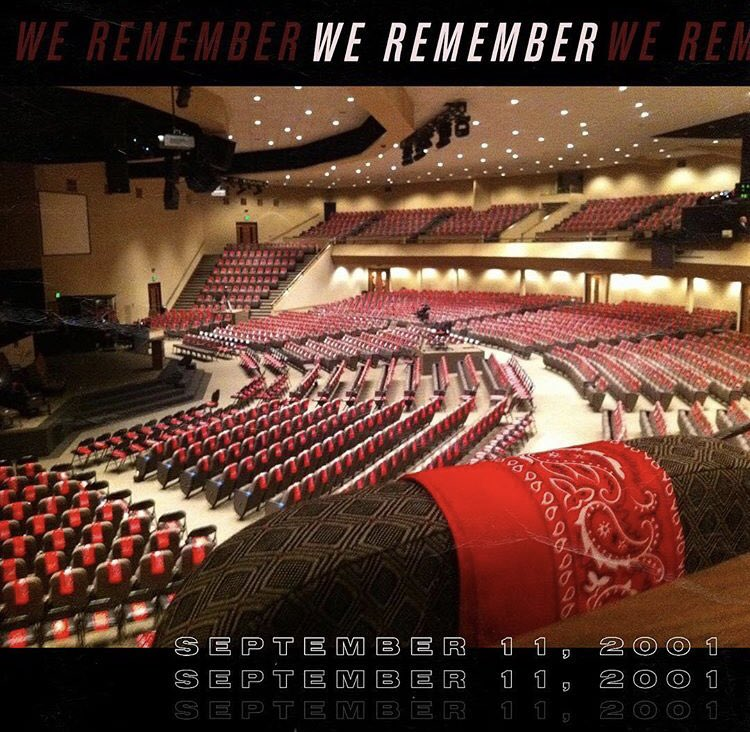 "Another year passes, and still we remember & pray for the victims and families of the tragedies of September 11, 2001.   We send up special prayers for the family of ""the man in the red bandana"", Welles Crowther. #themanintheredbandana #wellescrowther #mypoa<br>http://pic.twitter.com/zCtDj32vDz"