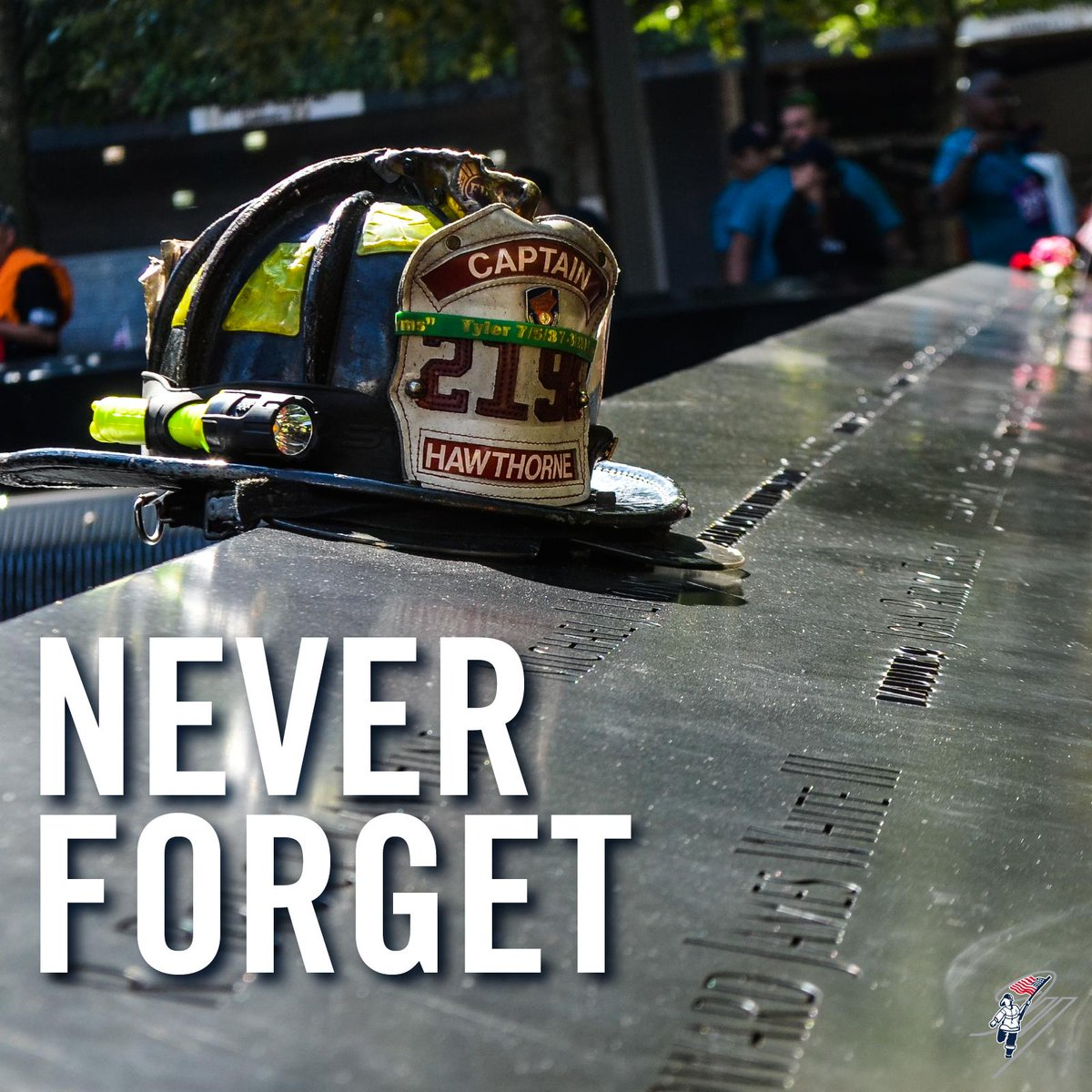 To the fallen heroes - our nation's protectors, those who continue to keep us safe and, of course, our brother Stephen. Today, the 18th anniversary of 9/11, we remember your bravery. Your sacrifices will never be forgotten. <br>http://pic.twitter.com/dxk3NN08u7