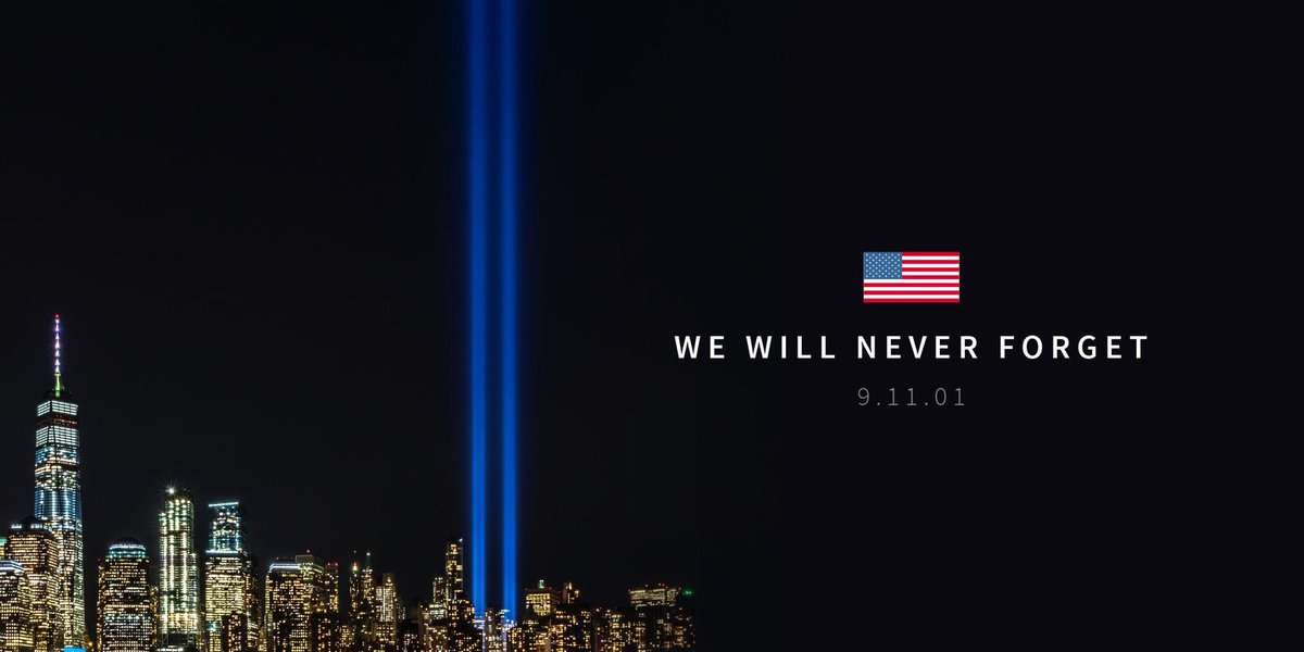 18 years ago we lost 3000 Americans in the worst terrorist attack in US history. This day and everyday we are thankful for our heroic first responders and brave military who keep us safe and fight to protect us. We will never forget. #remember911 #neverforget #USA<br>http://pic.twitter.com/Ajdu6eQza6