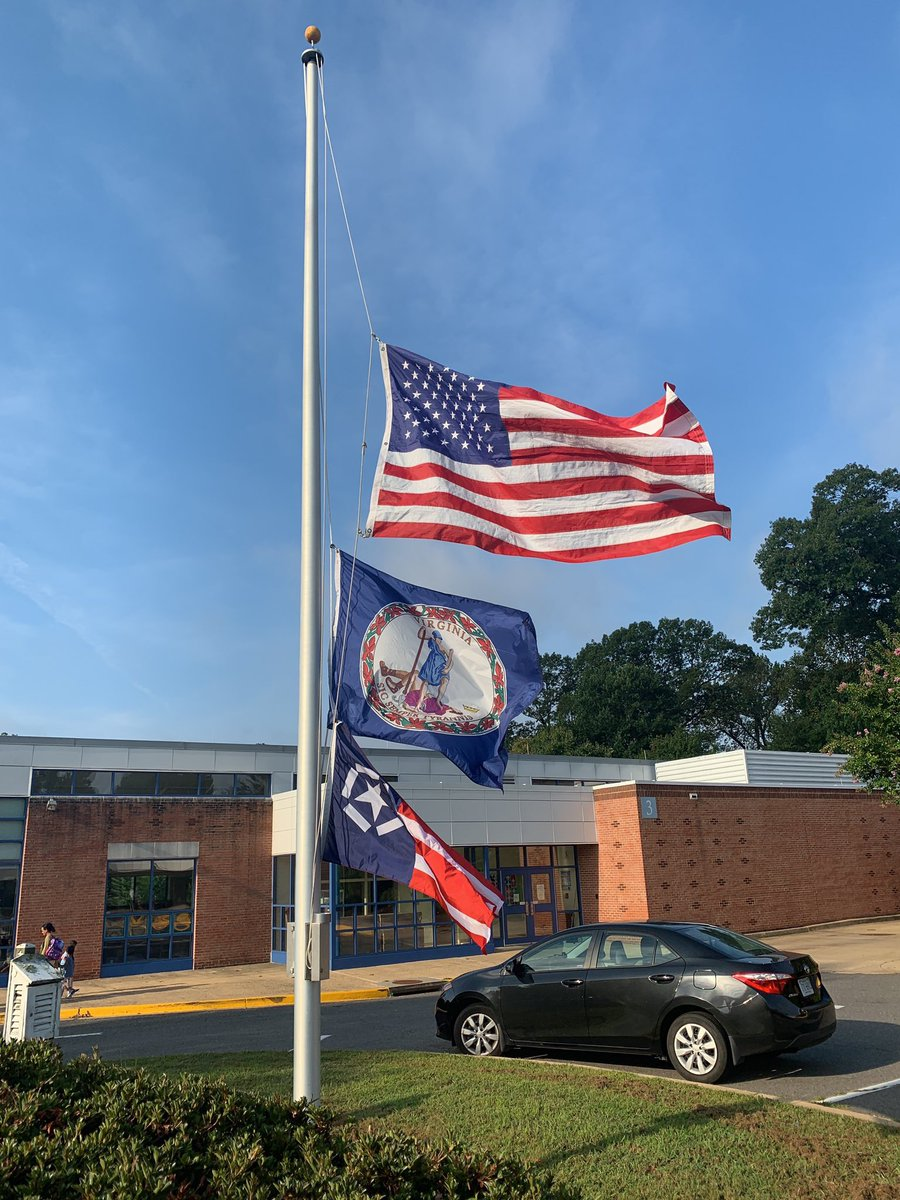 Today, we dedicate our Moment of Silence in remembrance of those we lost during 9/11 and the first responders. Outside you will see the Freedom Flag this is raised to commemorate this historic event. <a target='_blank' href='http://search.twitter.com/search?q=APSRemembers'><a target='_blank' href='https://twitter.com/hashtag/APSRemembers?src=hash'>#APSRemembers</a></a> <a target='_blank' href='http://search.twitter.com/search?q=NeverForget911'><a target='_blank' href='https://twitter.com/hashtag/NeverForget911?src=hash'>#NeverForget911</a></a> <a target='_blank' href='http://twitter.com/APSVirginia'>@APSVirginia</a> <a target='_blank' href='http://twitter.com/McCarthyM_JES'>@McCarthyM_JES</a> <a target='_blank' href='http://twitter.com/JamestownESPTA'>@JamestownESPTA</a> <a target='_blank' href='https://t.co/geccKGm4Fh'>https://t.co/geccKGm4Fh</a>