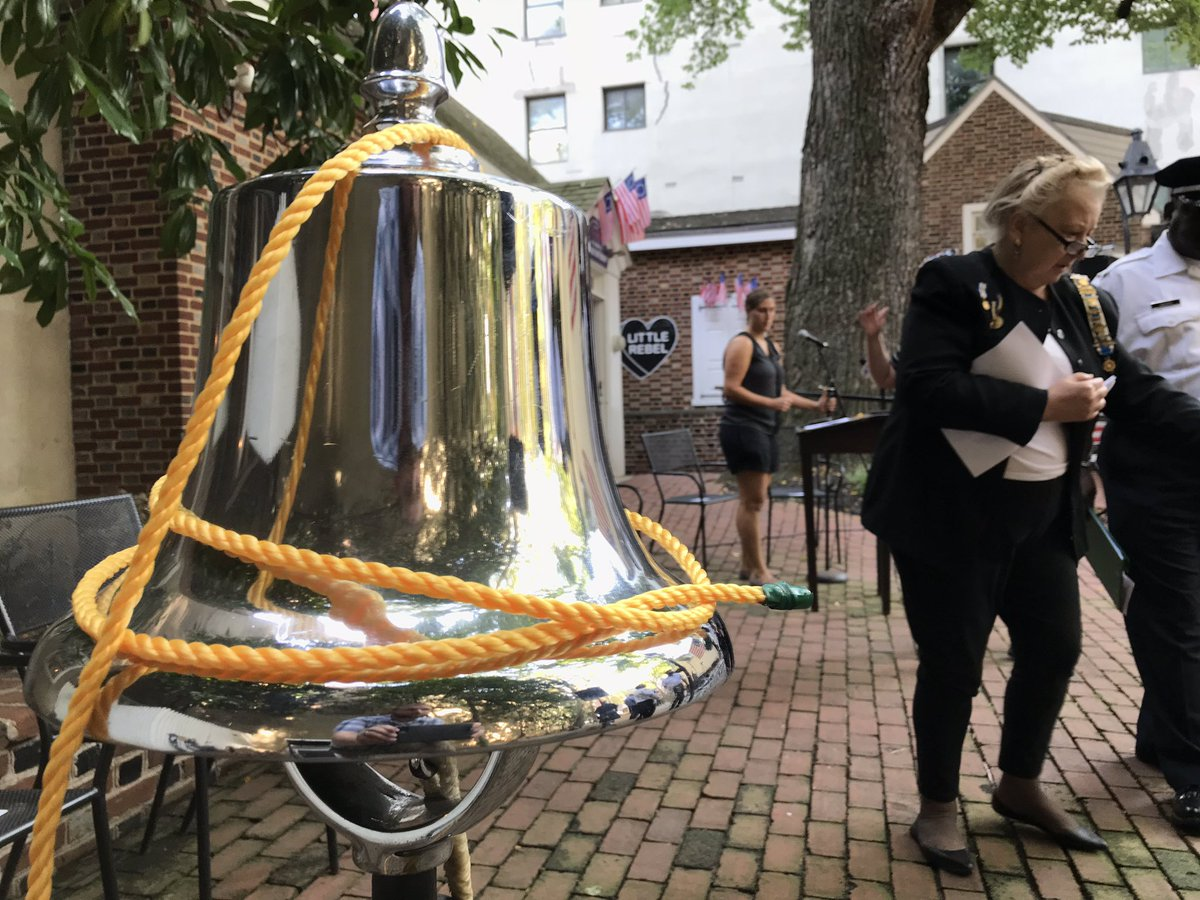 Waiting for the 9-11 ceremony at the @BetsyRossHouse @NBCPhiladelphia<br>http://pic.twitter.com/oThE8Y542V