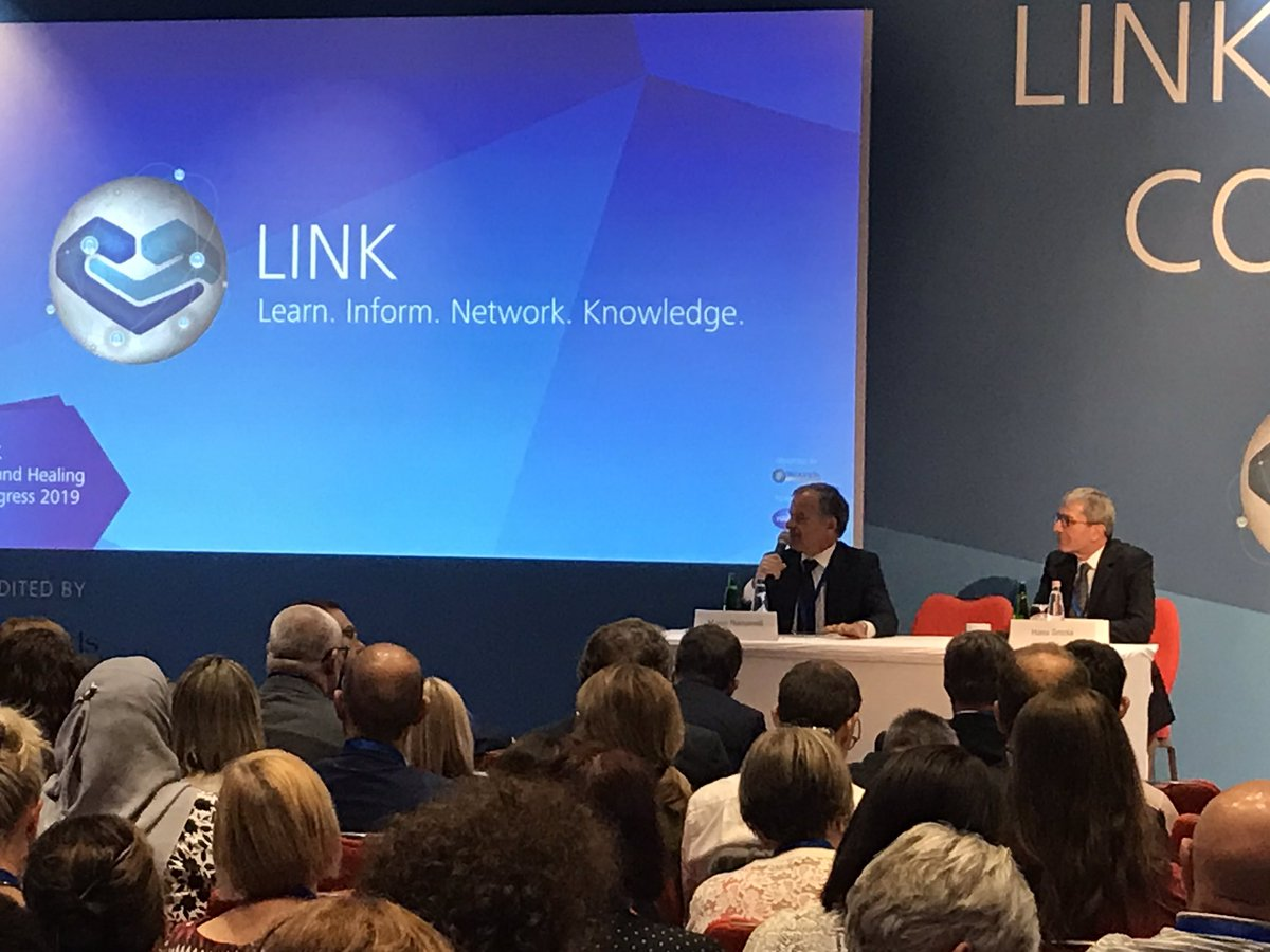 Prof. Marco Romanelli, WUWHS President, and Prof. Hans Smola offer answers to wound professionals from over 20 countries #linkforwoundhealing Budapest https://t.co/BzoZQEiCNf