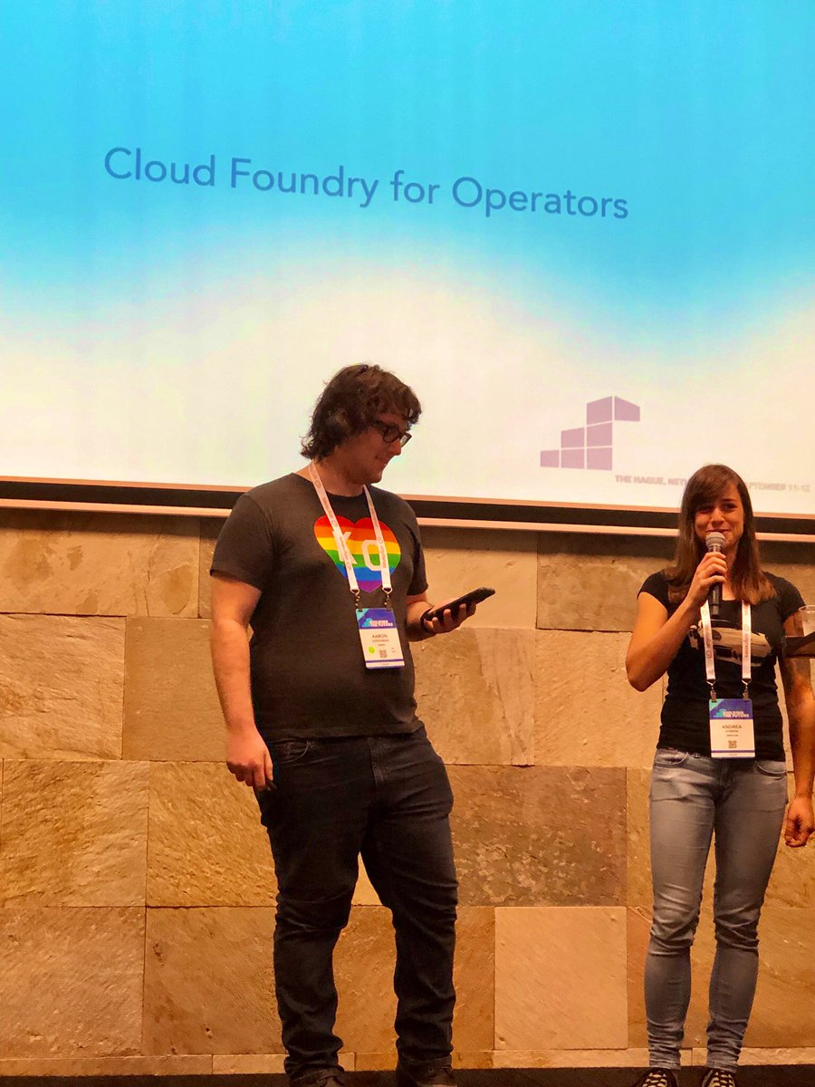 Fired up  to hear our very own #PivotalVanguard, @aegershman_ of @Cerner presenting @cloudfoundry for Operators at #CFSummit in The Hague <br>http://pic.twitter.com/NJUSIgUcMr – à World Forum