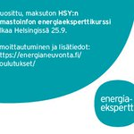 Image for the Tweet beginning: ⚡Kiinnostaako taloyhtiöiden energia-asiat? 🏙⚡Vielä ehdit