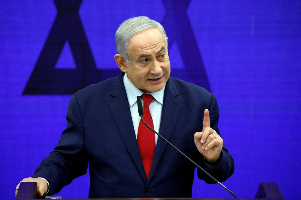 Israel strikes Gaza after rocket sirens force Netanyahu off stage https://reut.rs/302R6os