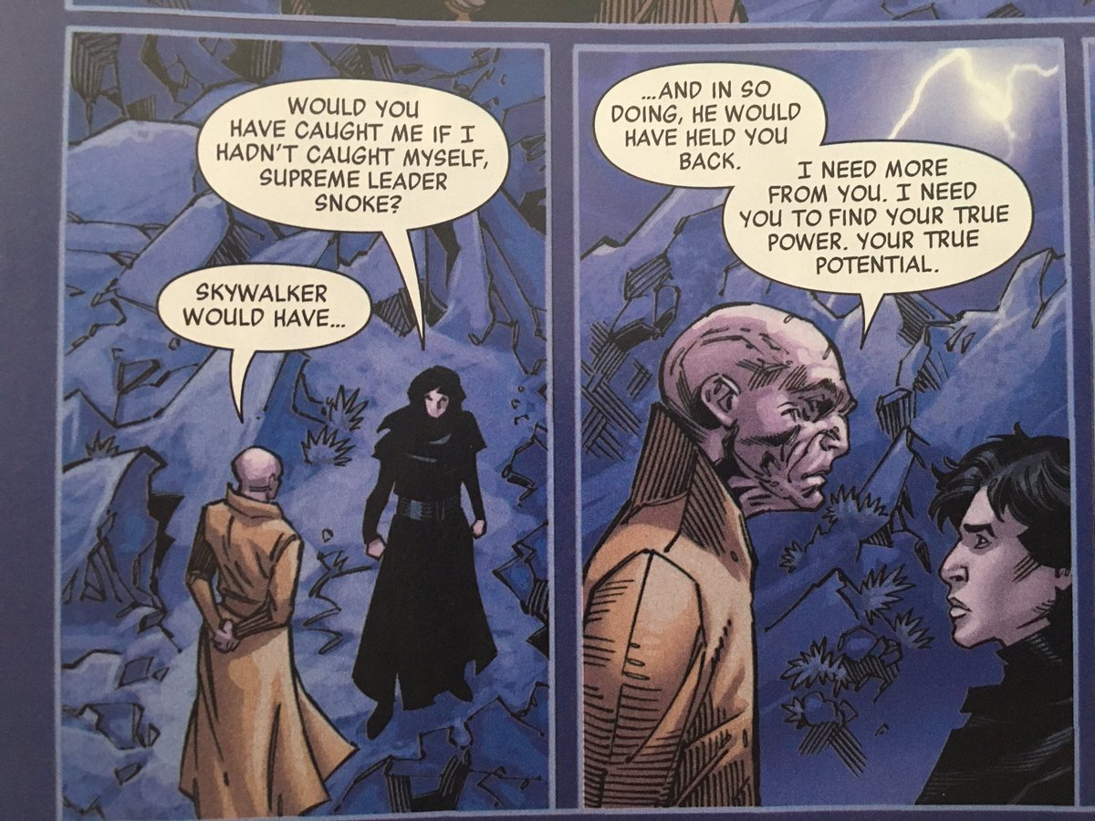 #snokecomic #snokecomicspoilers #spoilers  After literally being thrown down a precipice, this is the first thing Kylo asks Snoke. All he wants is someone to catch him from the precipice he's fallen into I'm sobbing. <br>http://pic.twitter.com/xVz2c59SEX