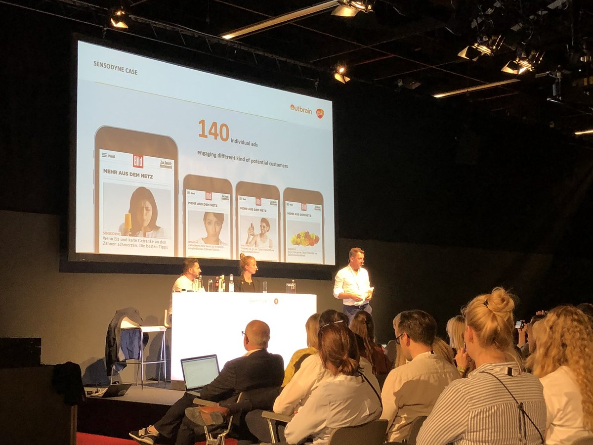 Really impressive case from our German team & local agency with Outbrain on Sensodyne. Leading thinking in terms of using useful content to not only communicate but also build a data view of our consumers. #DMEXCO19 <br>http://pic.twitter.com/5AWWeLYwrR