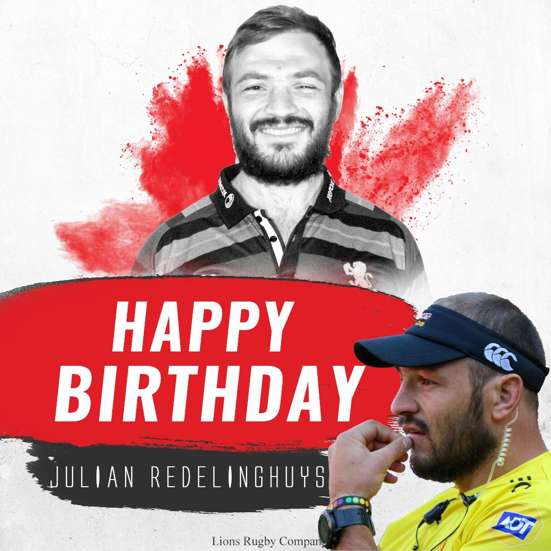 Happy birthday to Julian Redelinghuys, who is celebrating his 30th birthday today! #LionsPride