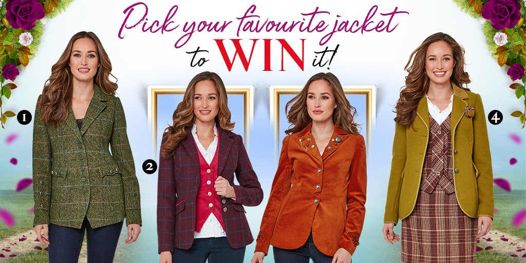 It's competition time!  Simply RT, like this post and pick your favourite autumn jacket numbered 1-4 below and you could #WIN it!  T&C's apply - Good luck!  #lovejoebrowns #joebrowns #giveaway #win #competition #prize #competitiontime #autumnwinter #autumncoats<br>http://pic.twitter.com/tb99BgUA93