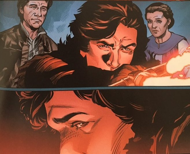 """#snokecomic #1 """"he is a son of alderaan.""""  """"he'd deny it but he is very much like her (leia)""""   """"rise above what is holding you back""""  """"you are our son. you are loved""""  lucas film dropping bendemption hints to prepare the general audience for the rise of skywalker! <br>http://pic.twitter.com/WVMDIek6qm"""