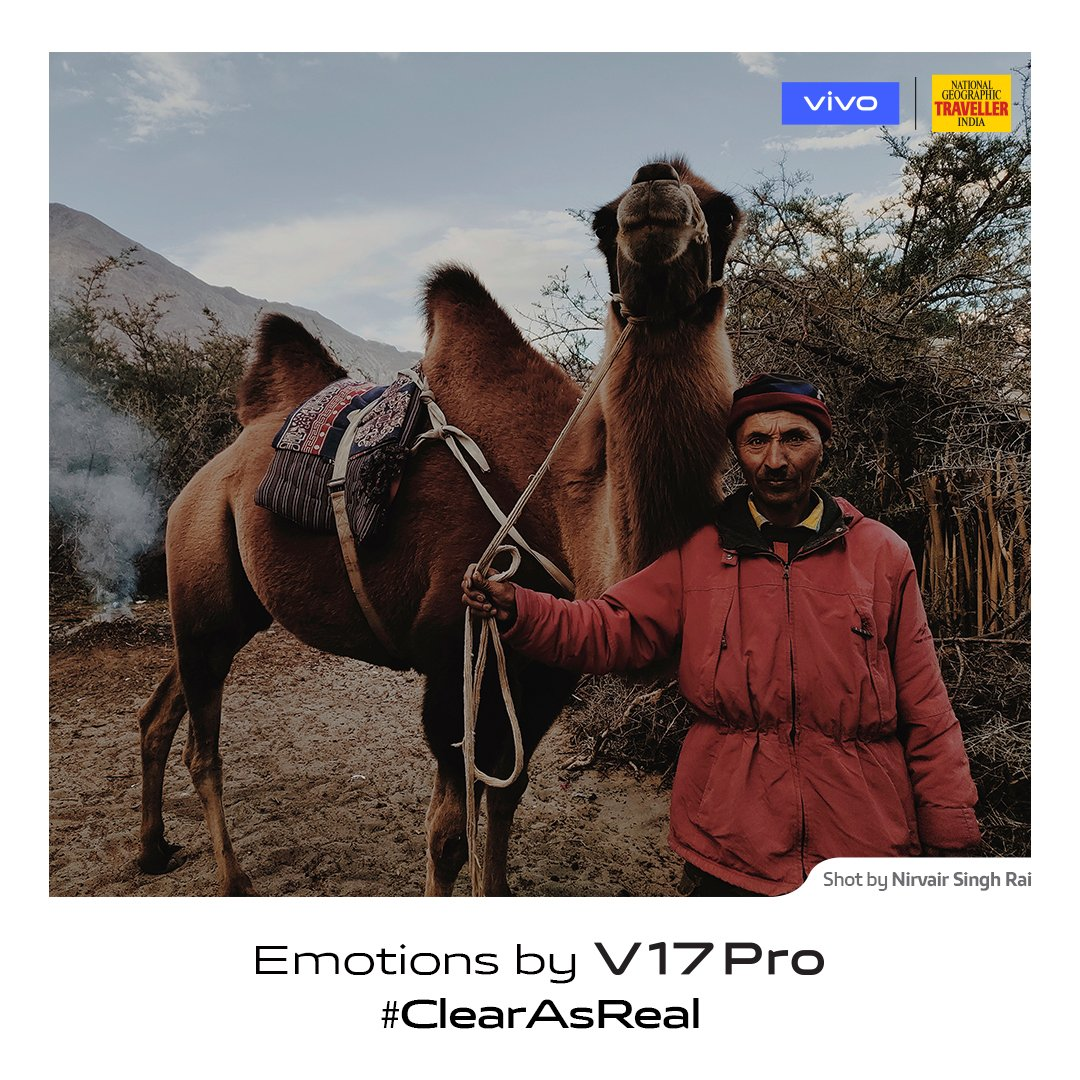 A soulful connection is what every heart craves for. #ClearAsReal emotions captured by photographer Nirvair Singh Rai on #vivoV17Pro in partnership with @NGTIndia. Launching on 20th September