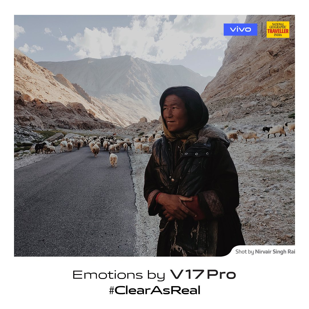 Be your own guide on the path less travelled. #ClearAsReal emotions captured by photographer Nirvair Singh Rai on #vivoV17Pro in partnership with @NGTIndia. Launching on 20th September.