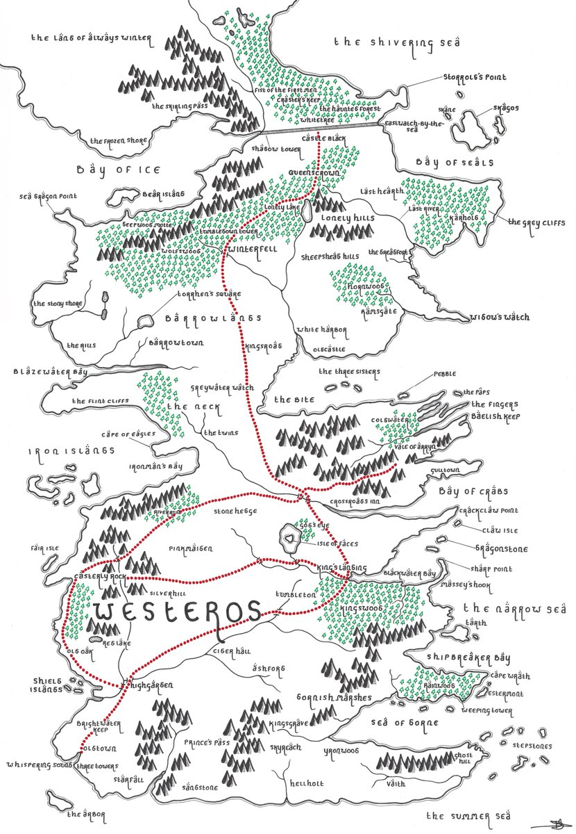 For all of you Game of Thrones fans!  A map of Westeros, Tolkien styled! <br>http://pic.twitter.com/qPD5dupmDQ