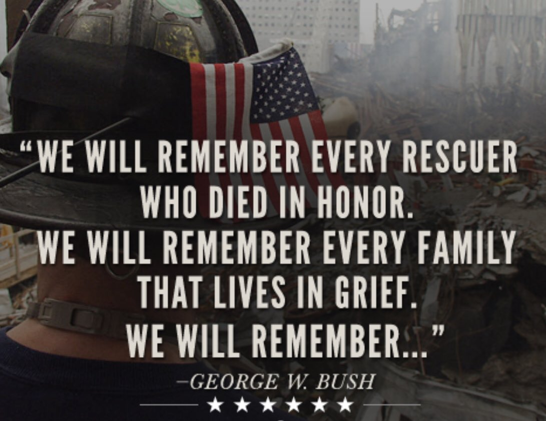 In spite of all we disagree on, one day a year, we are once again unified as we commemorate the events of 9/11, the lives of the victims and the bravery of the first responders.  #NeverForget911<br>http://pic.twitter.com/XCa4BfXYTm