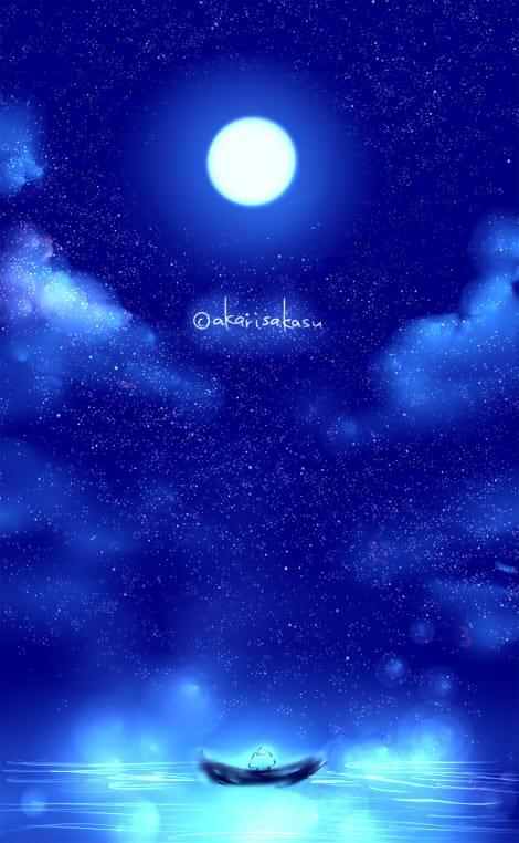 「月夜の海」|灯さかす @akarisakasu|note(ノート) #ましまろう