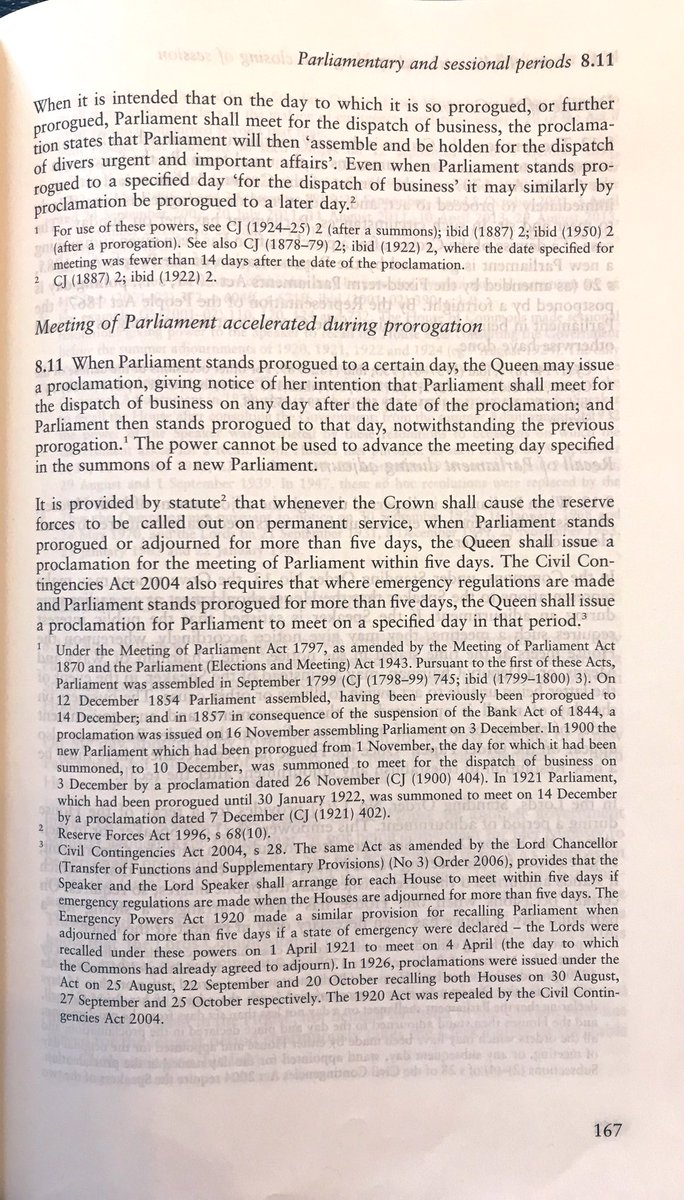 Following today's unprecedented Court of Session judgement that the prorogation of Parliament was unlawful, the way to bring Parliament back is for there to be a Royal Proclamation under the 1797 Meeting of Parliament Act. See para 8.11 of Erskine May below.