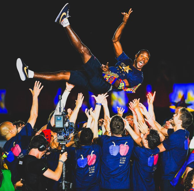 Happy 40th birthday Legend   What is your favourite Eric Abidal moment at Barça?