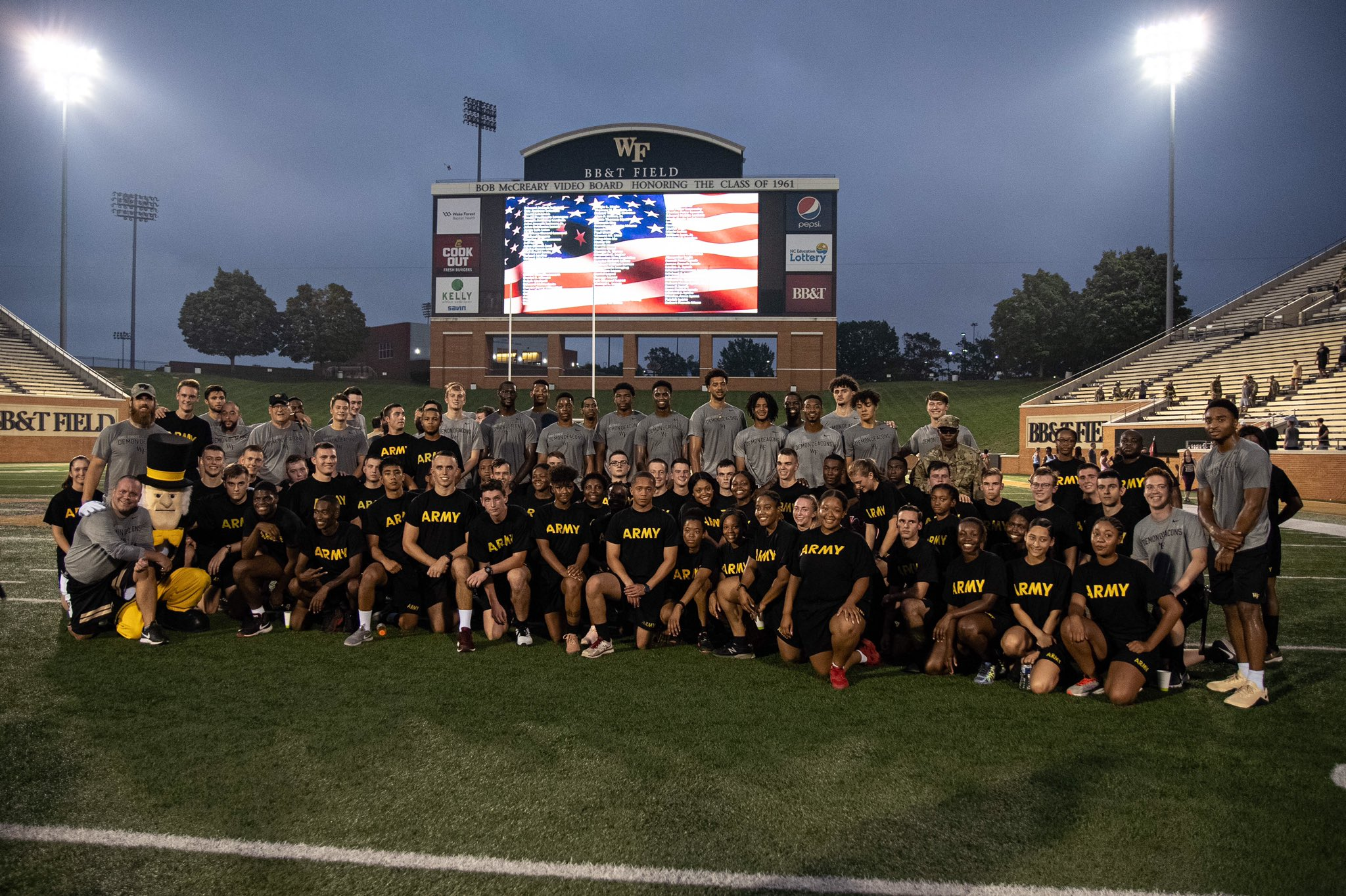 Wake Forest Demon Deacons NCAA Basketball: Very special and powerful morning as our guys completed 'A Climb to Remember' to pay tr...