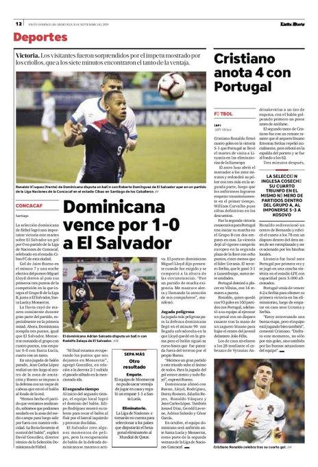 Liga de Naciones CONCACAF 2019: El Salvador 0 La Republica Dominicana 1. EELvts-WsAAwdjG?format=jpg&name=small