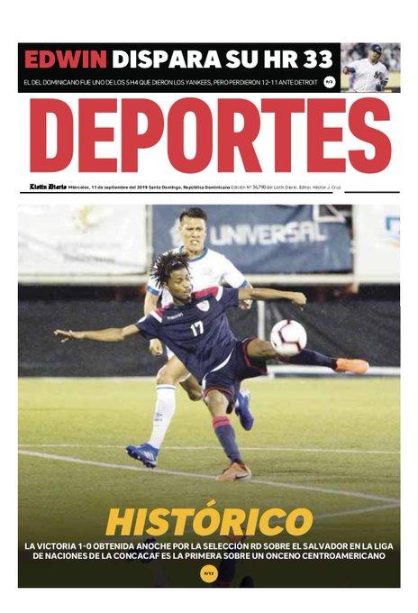 Liga de Naciones CONCACAF 2019: El Salvador 0 La Republica Dominicana 1. EELvts5XoAAir9D?format=jpg&name=small