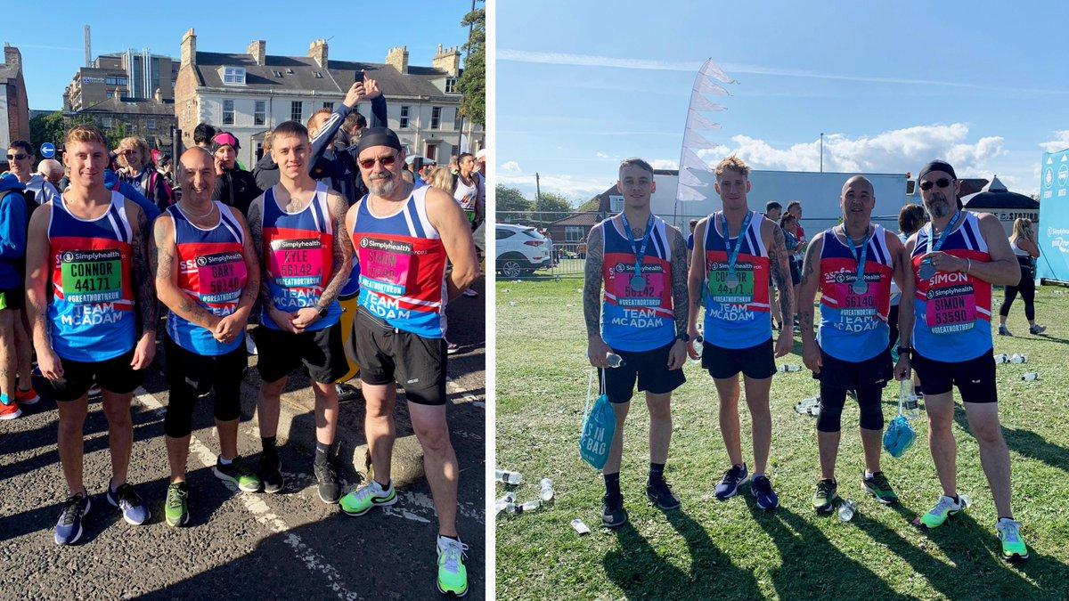 Whether you have your own #GreatNorthRun ballot place, or are looking for a charity place, we'd be proud to have you on #TeamSSAFA, supporting our Armed Forces community - just like the McAdams, pictured in 2019!  ▸  https:// ssaf.as/1al       #GNR2020  #GNR40 #BeYourGreatest <br>http://pic.twitter.com/1Ptf3scCqK