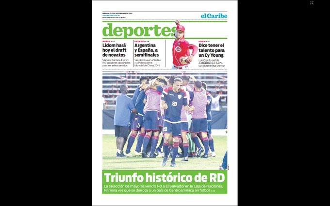 Liga de Naciones CONCACAF 2019: El Salvador 0 La Republica Dominicana 1. EELzZg2XYAA74zT?format=jpg&name=small