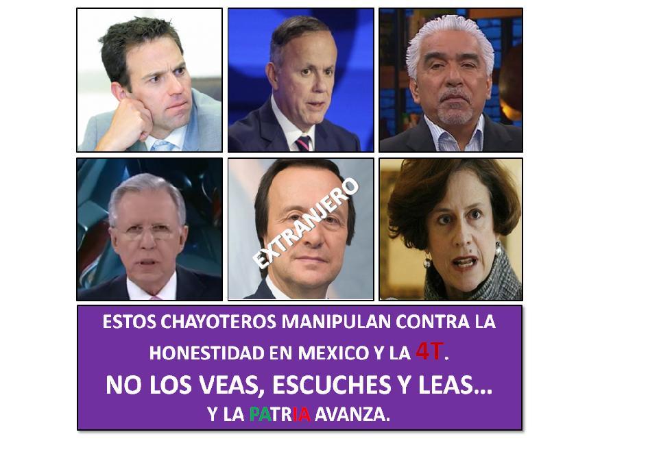 #ChayoteroChallenge#ChayoterosQue mienten como RESPIRAN...Bloqueados al igual que los medios que los contraten...Adiós al RATING...!!!@Televisa @ImagenTVMex @Azteca @mileniotv ALV...!!!