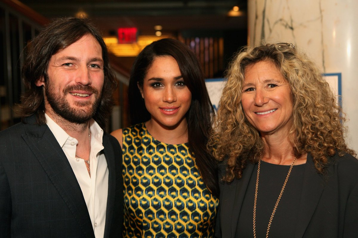 Thomas Keown , Meghan Markle and Edie Lutnick, President of the Cantor Fitzgerald Relief Fund