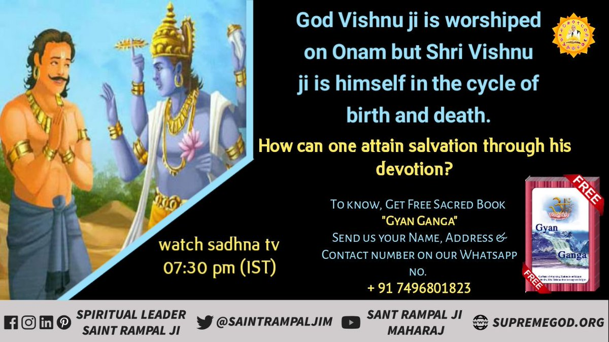 #WednesdayThoughts  Vishnu ji is worshipped on Onam but he himself is in birth and death <br>http://pic.twitter.com/2XRIsW2Y1y