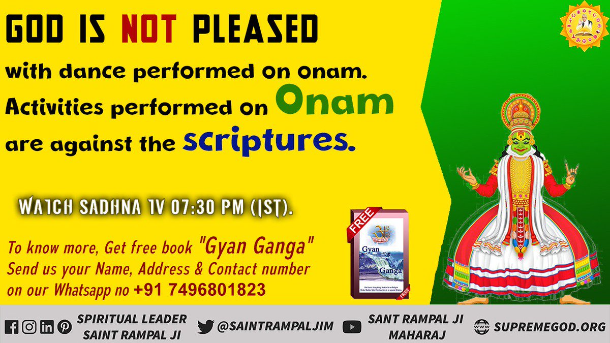#WednesdayThoughts  Activities performed on Onam are against our scriptures <br>http://pic.twitter.com/55MTigXkUN