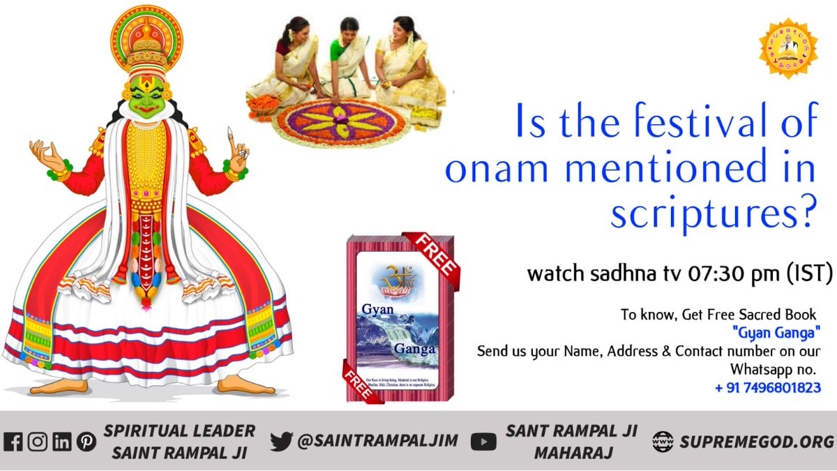 #WednesdayThoughts  Is it mention any of our scriptures that we should celebrate Onam <br>http://pic.twitter.com/0H7BOaRgBa