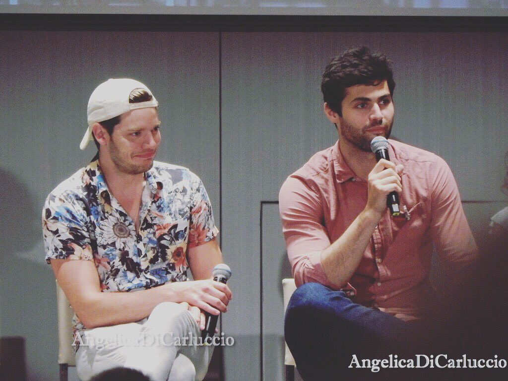 Dominic Sherwood and Matthew Daddario, The Italian Institute(The Third Convention) <br>http://pic.twitter.com/ZjaRpjUeDv