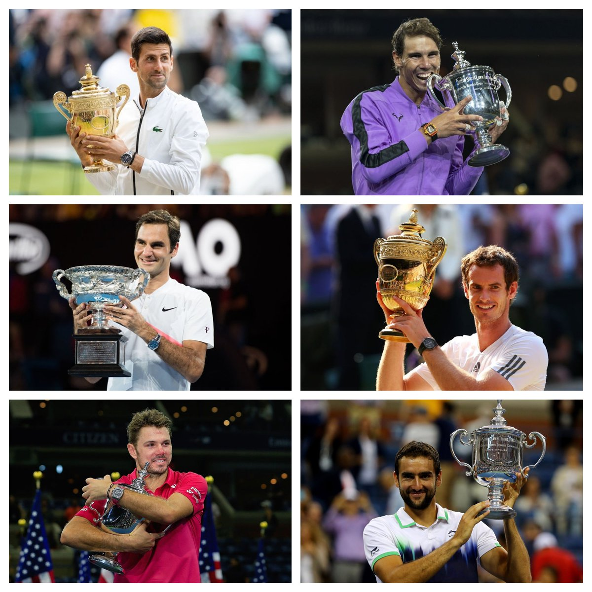There have only been 6️⃣ male Grand Slam winners across the last decade! 🤯#bbctennis