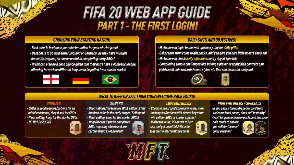 💻 FIFA 20 WEB APP GUIDE! 💻 Its that time of year again, the hype for that initial grind is real! Heres a guide to how to best utilise the web app, before getting stuck in to EA Access! - The First Login ✅ - Generating Coins on Day One ✅ - Some Web App Trading Methods ✅