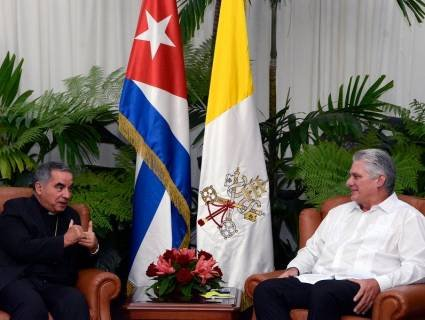 Diaz-Canel highlights good state of relations with the Holy See